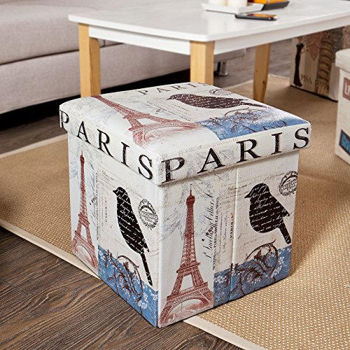 Swell Haotian Storage Ottoman Folding Seat Box With Removable Import It All Bralicious Painted Fabric Chair Ideas Braliciousco