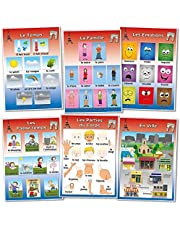 Wildgoose Education fr0029 francés vocabulario Póster, juego de 2 (Pack de 6)