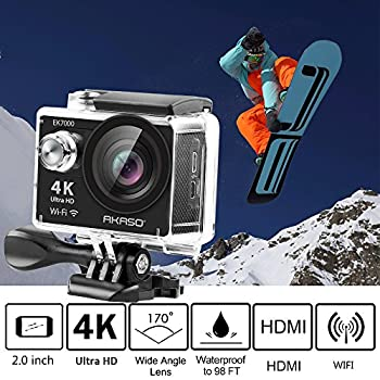 Akaso Ek7000 4k Wifi Sports Action Camera Ultra Hd Waterproof Dv Camcorder 12mp 170 Degree Wide Angle 2