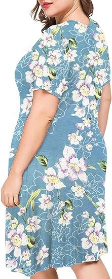 Women's Plus Size Short Sleeve Casual Dress