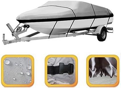 Bootspersenning 20-22FT Bootsabdeckung Bootsplane Schutzplane Wasserdicht Grau