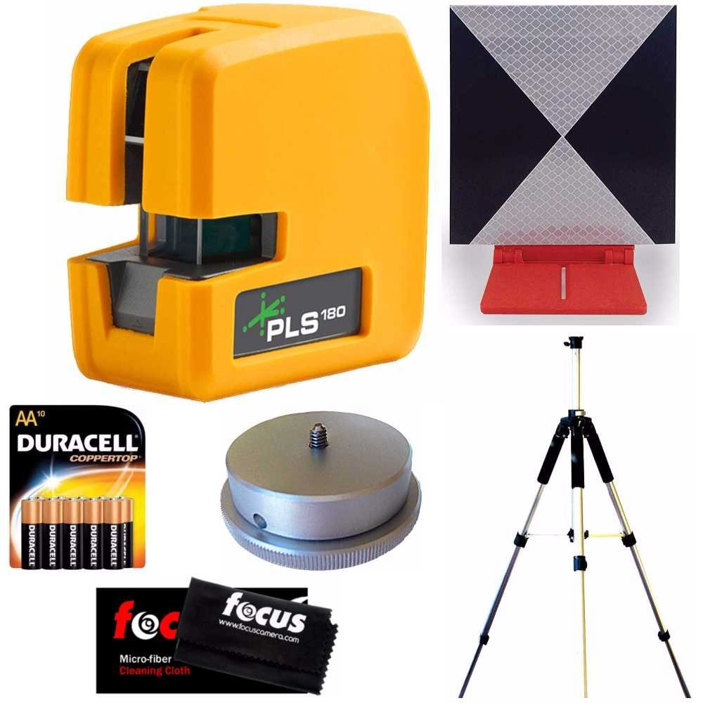 Pacific Laser Systems PLS 180 Green W / Tripod, Adapter, Target, Batteries & Cleaning Cloth