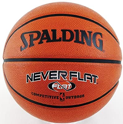 Spalding NBA NeverFlat Rubber Outdoor Basketball