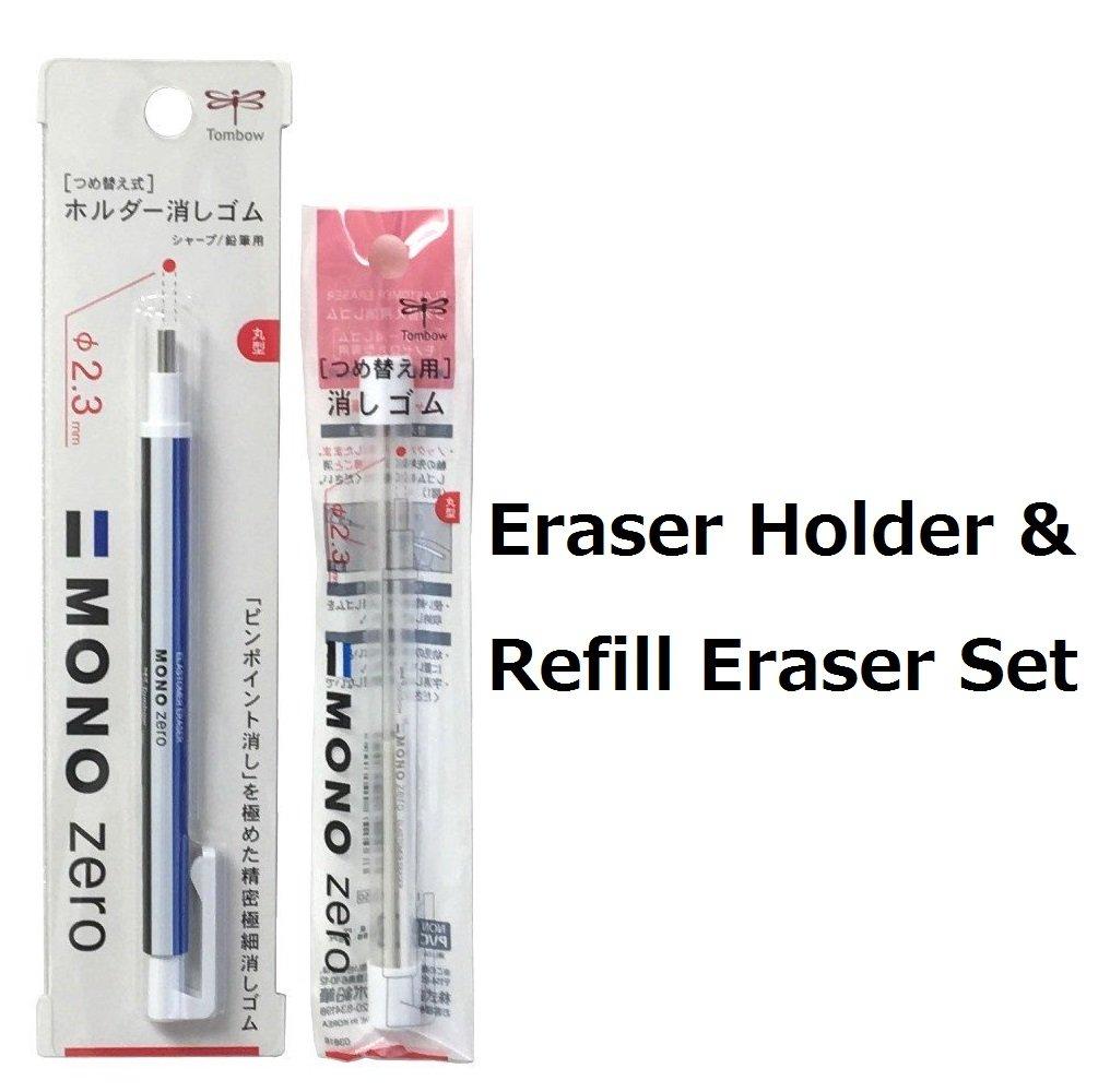 Tombow MONO Zero Eraser, Round Tip 2.3mm, Retractable & 2...