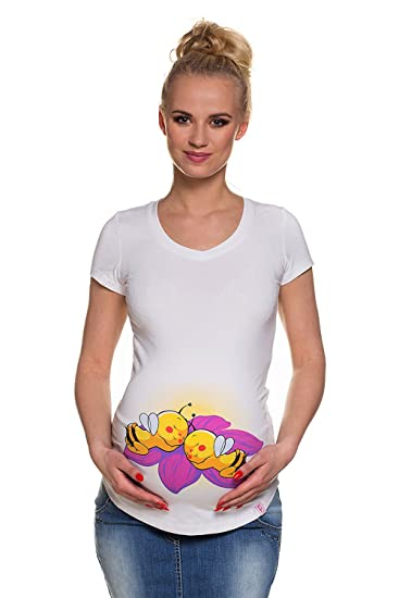 My Tummy Tee-shirt de maternité et grossesse abeilles jumeaux S (petite) 7a088433a02