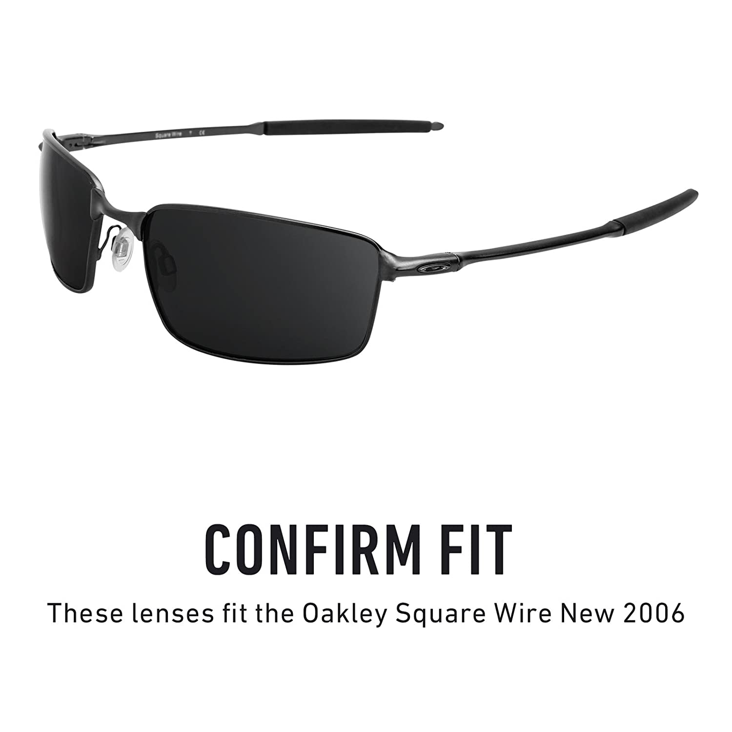 14b88766fce Amazon.com  Revant Replacement Lenses for Oakley Square Wire New (2006)  Elite Adapt Grey Photochromic  Sports   Outdoors