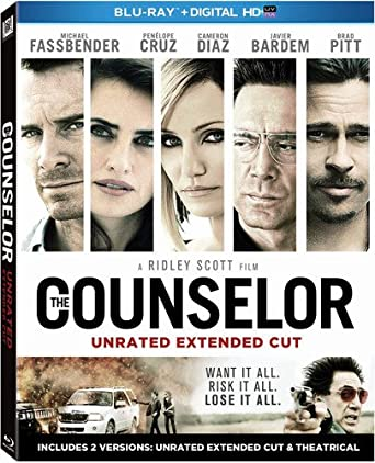 The Counselor Unrated Extended Cut Blu Ray