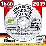 Universal Treiber Sammlung 16GB für Windows 10 - 8 - 7- Vista - XP (32 & 64 Bit)