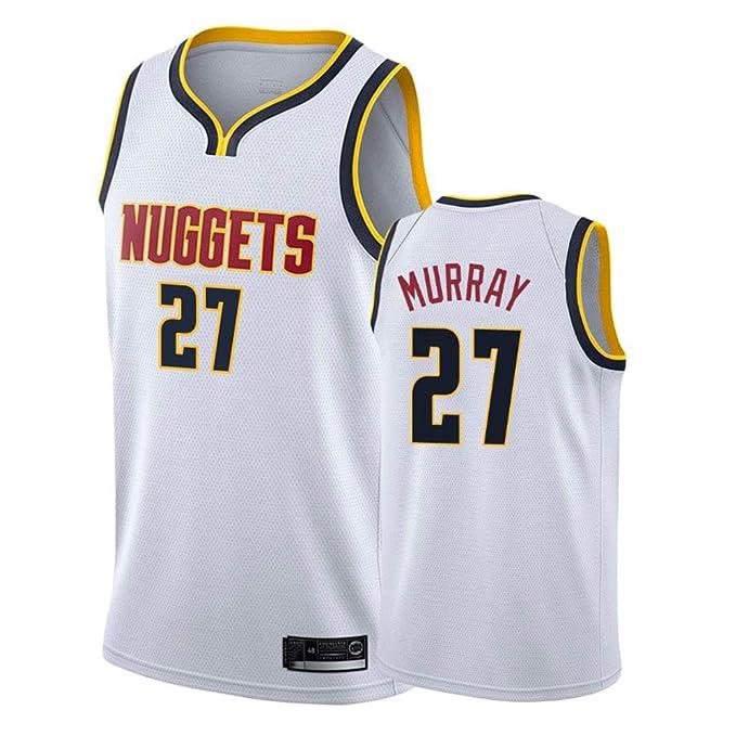 CAISHEN Hombre Mujer Ropa de Baloncesto NBA Nuggets 27# Murray ...