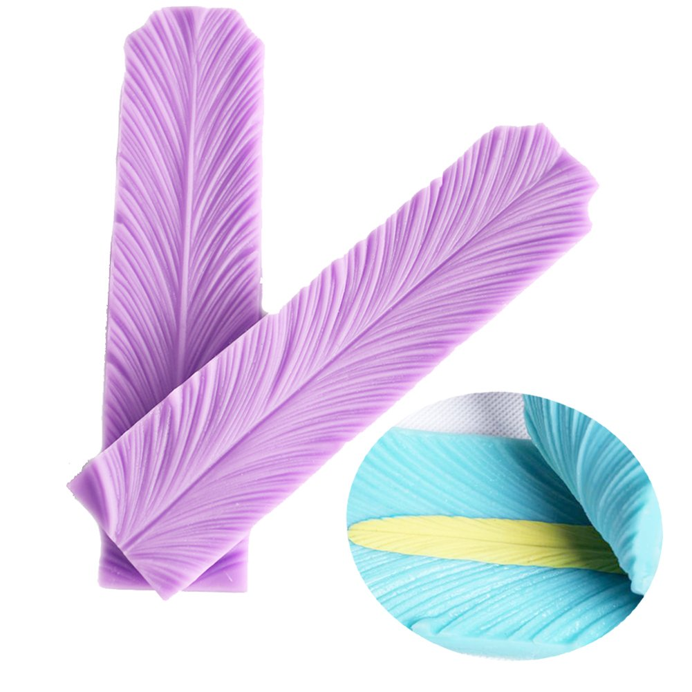 Feathers Veiner Cake Fondant Mold Cake Toppers Cake Decorating Chocolate Mold For Sugar Craft Gum Paste by SK (Image #1)