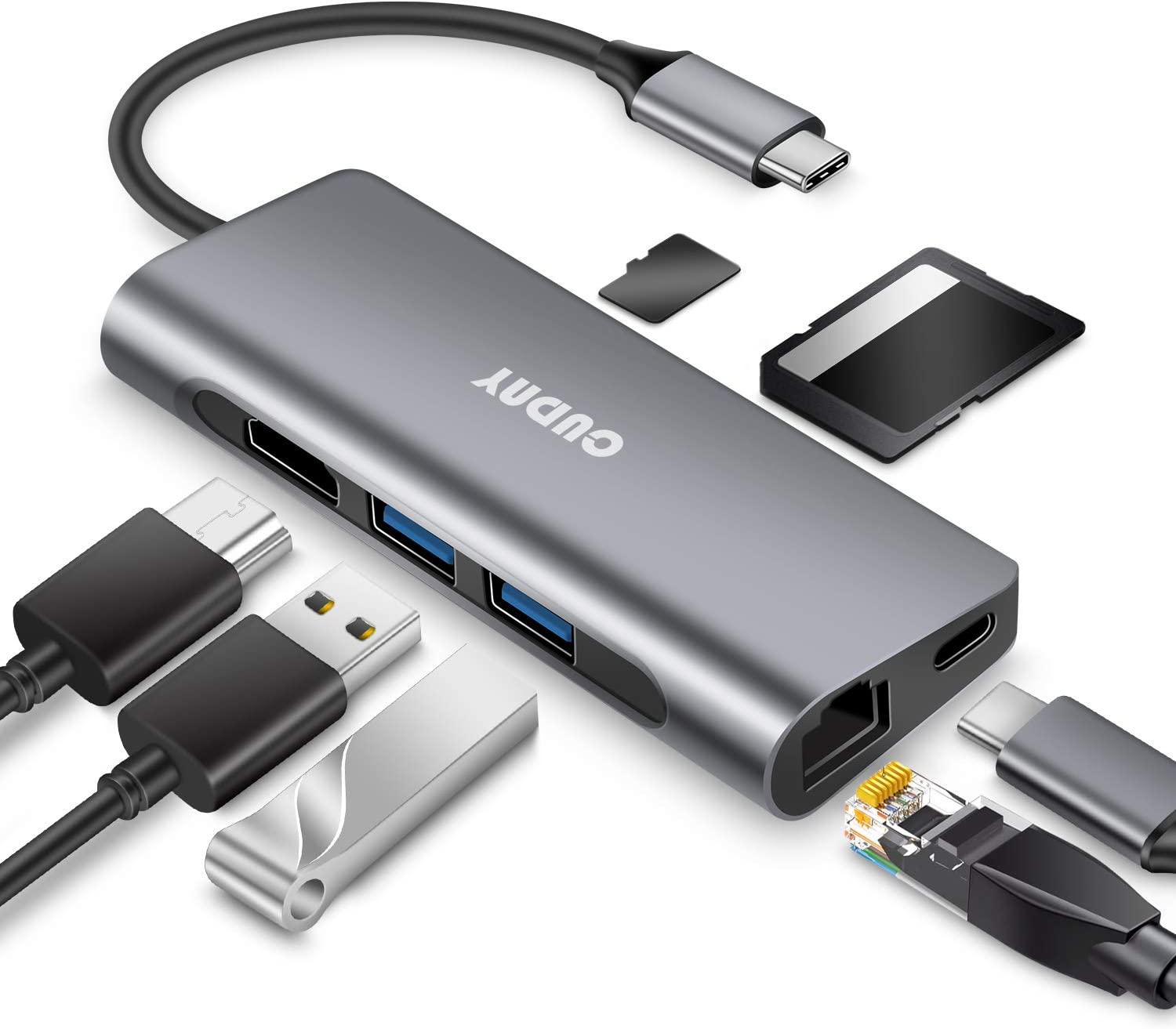 7-in-1 Adapter with Gigabit Ethernet