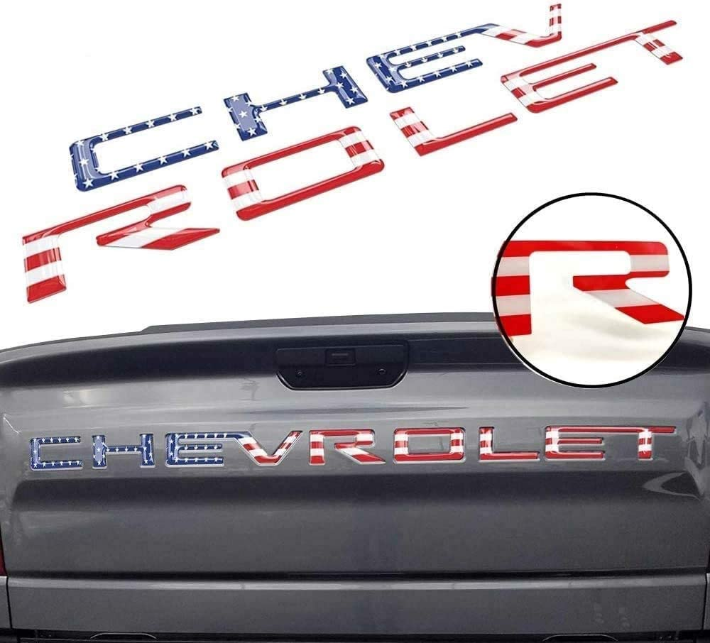 Tailgate Inserts Letters for 2019 2020 Silverado 3D Raised /& Strong Adhesive Decals Letters Tailgate Emblems Inserts Letters - Red