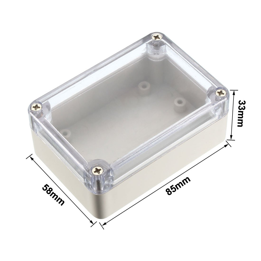 uxcell 85x58x33mm Electronic Waterproof IP65 Sealed ABS Plastic DIY Junction Box Enclosure Case Clear a18051700ux0365