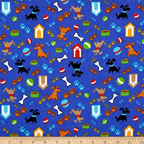 (Newcastle Fabrics Printed Flannel Gimmie Shelter Blue Yard)