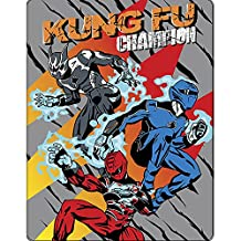 Childrens/Kids Boys Power Rangers Jungle Fury Fleece Blanket/Bed Throw (47 x 59) (Grey)