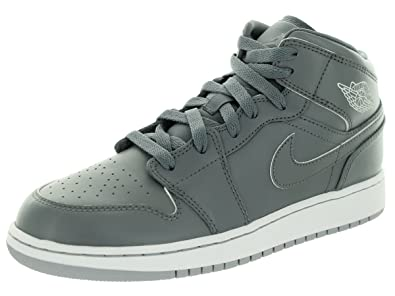 f34d34b14b44 Image Unavailable. Image not available for. Color  Jordan 1 Mid Grade School  Basketball Shoes