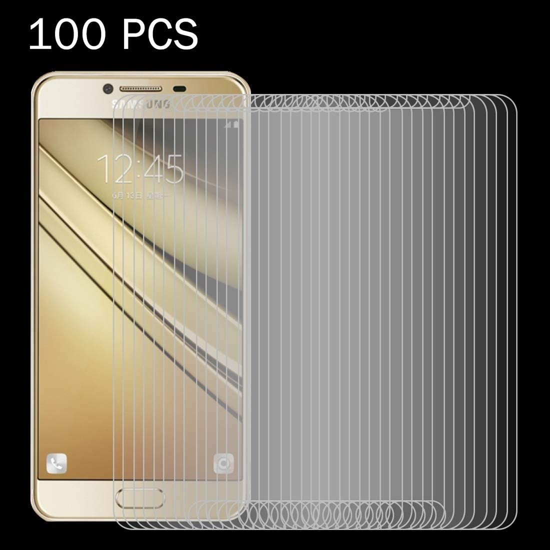 2016 // J510 0.26mm 9H Surface Hardness 2.5D Explosion-Proof Tempered Glass Screen Film ScreenProtector YHM 100 PCS for Galaxy J5