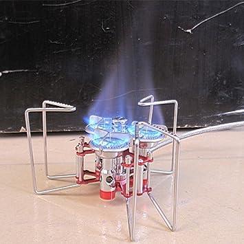 vycloud (TM) nueva 5800 W portátil tres quemadores Estufa Cartucho de aluminio inoxidable al aire libre Split Gas Estufa de Camping plegable horno de ...