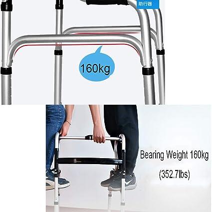 Asistente de movilidad ligero, andador geriátrico plegable con 2 ...
