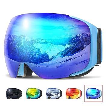 Masque Lunette de Ski Snowboard , COPOZZ G2 Lunettes Jet Pour Homme Femme  Adulte Adolescent , 8312cdb9ed8