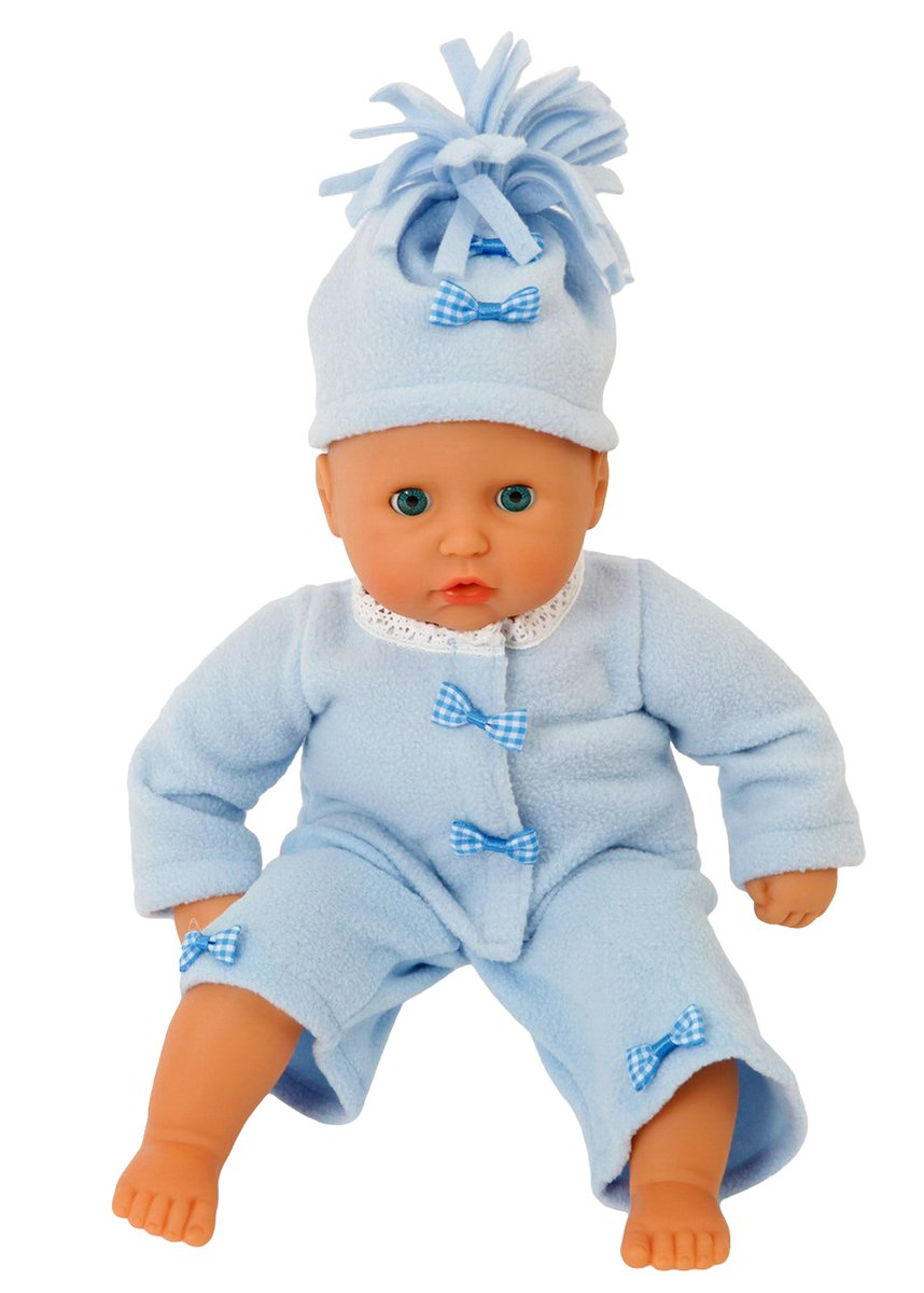 Frilly Lily COMPLETE BLUE FLEECE OUTFIT FOR 12-14 INCH [30-35 CM] DOLLS SUCH AS GOTZ,COROLLE,ZAPF,MY LITTLE BABY BORN,MY FIRST BABY ANNABELL. FROM [DOLL NOT INCLUDED] 12-14 inch complete blue fleece set