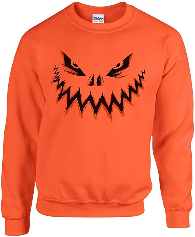 Trick Or Treat Printed Sweater Halloween Horror Fancy Dress Mens Womens Scary