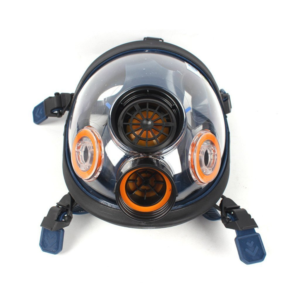 Gas Mask Respirator by Parcil Distribution. Full Face, Single Air filter, Visor Protection - Industrial Grade Quality - Pure SAFE Breathing