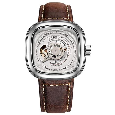 WWAVE Relojes para Hombre Relojes Moda Deportes Lujoso Estilo Acero Inoxidable Resistente al Agua mecánico Reloj