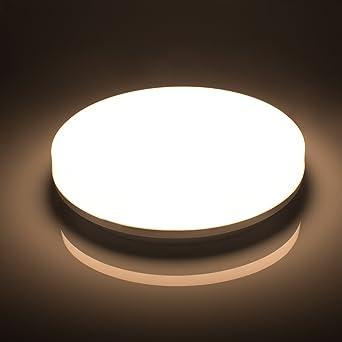 Öuesen LED Deckenleuchte 18W LED Deckenlampe Neutralweiß 4000K Wasserfest  IP44 LED Badlampe 1650LM Für Badezimmer Bad