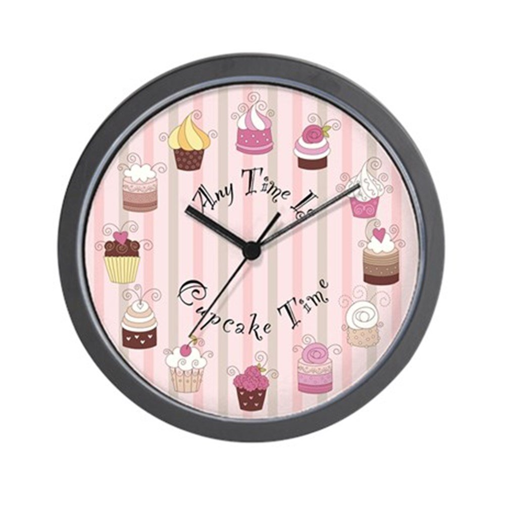 CafePress - Any Time Is Cupcake Time Wall Clock - Unique Decorative 10