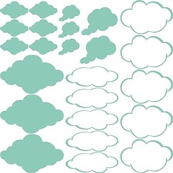 GRAZDesign 770090_57_055 Wandtattoo Wolken Klein Groß | Dekoration Für  Kinderzimmer   Jungs Und Mädchen   Für