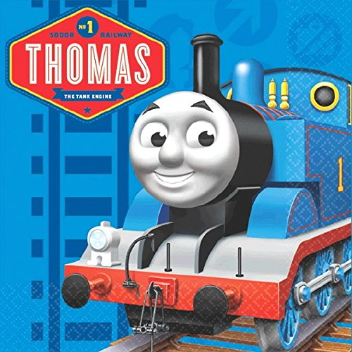 amscan Cool Thomas The Tank Engine Birthday Party Beverage Napkins (16 Piece), 5 x 5, Blue -