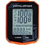 DOPPELGANGER サイクルコンピューター(ワイヤレス) 防滴仕様IPX6 スピード計 走行時間・走行距離計測 重量25g カロリー表示 マイル/キロ表示選択可能 バックライト内蔵 [ナイロンタイプブラケット付属] DCP196-BO