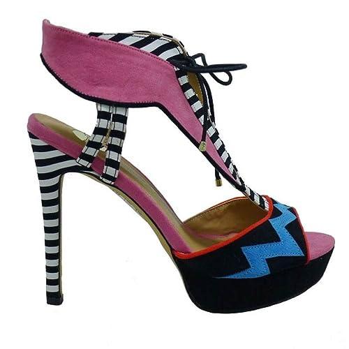 fa854017b58 EXE Shoes Sandalia Fantasía Tacón y Plataforma Vivian-711  Amazon.es   Zapatos y complementos