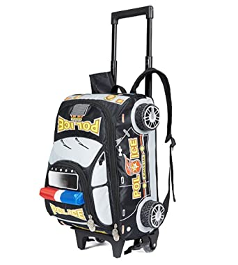 dcc1c1fa05 Children Toddler Kid s 2-4-6th Grade Pupils School Bag Backpack with  Wheeled Trolley