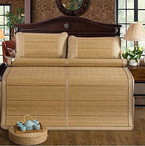 Sommerbettmatte Sommer Faltbare Holzkörner doppelseitige Bambusmatte Einzelne Doppelstudentmatte dreiteilig 0,9 m   1,5 m   (Bambusmatte 1) 1,2  1,93m (Farbe   A, größe   1.8  2.2m) B 0.91.9m