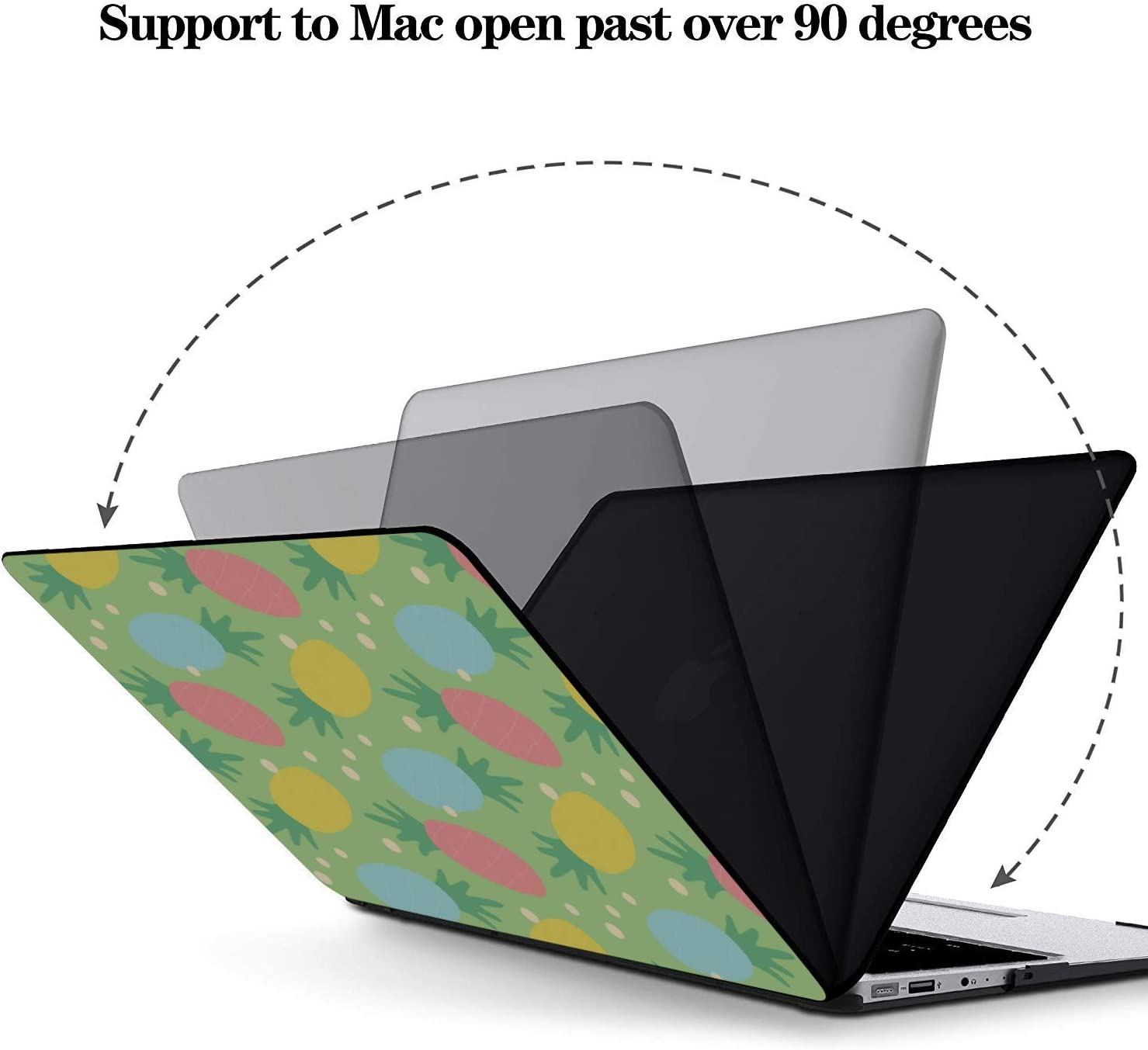 MacBook Pro13 Inch Case Summer Sweet Cute Fruit Pineapple Plastic Hard Shell Compatible Mac Air 11 Pro 13 15 Mac Laptop Cover Protection for MacBook 2016-2019 Version