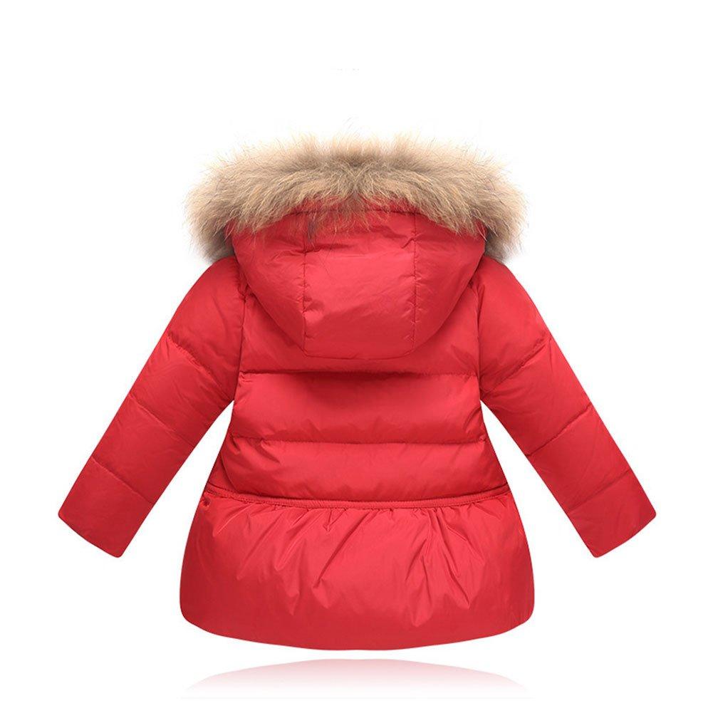 LSERVER Girls Bowknot Jacket Winter Hooded Down Jacket Puffer Jacket Coat Hood