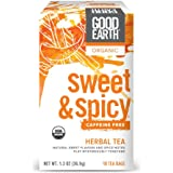 Good Earth Organic Herbal Tea, Sweet & Spicy, Caffeine Free, 18 Count Tea Bags (Pack of 6)
