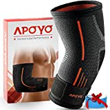 Elbow Compression Sleeve, Elbow Sleeve, Elbow Sleeve Weightlifting, Tendonitis Brace with Adjustable Strap & Bonus Elastic Therapeutic Tape, for Workouts & Sports, Medium