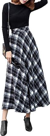 Falda De Mujer Una Línea Falda De Lana Falda Mode De Marca A ...