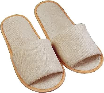 Comfysail Zapatillas de Viaje de Plegables Pantuflas de Algodón Antideslizante de Hotel Zapatillas con Una Bolsa de Portable: Amazon.es: Zapatos y complementos