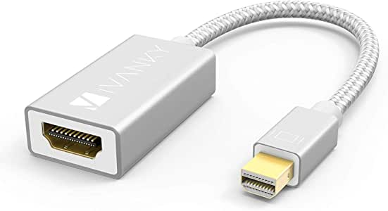 iVANKY Thunderbolt to HDMI Adapter, Mini DisplayPort to HDMI Adapter for Microsoft Surface Pro/Dock, Apple MacBook Air/Pro, Monitor, Projector and More - Silver - 20cm