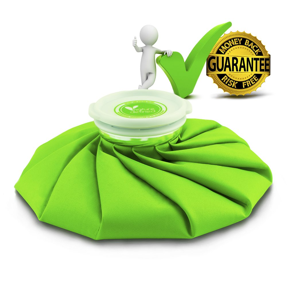 ON SALE! Best Ice Bag for Hot and Cold Treatments. Tough, Long-lasting, Soft on skin and Reusable Ice Pack Insulated to Keep the Temperature for Hours -By Nature Defined fulfilled by Amazon! (9 Inch) by Nature Defined