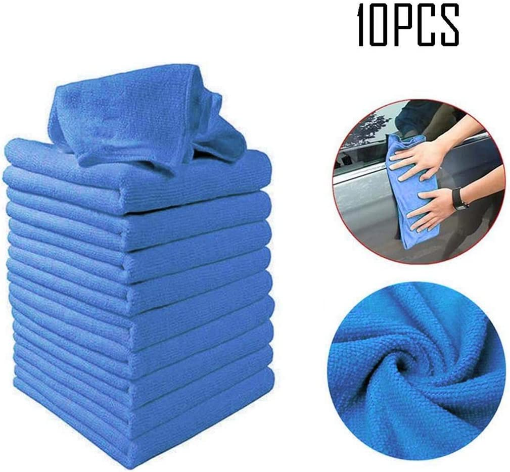 GUIGSI 10pcs New Car Cleaning Asciugamano abrasivo superfino Multifunzionale Spazzole