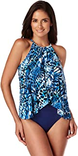 product image for Magicsuit Women's Swimwear Monarch Aubrey High Neck One Piece Swimsuit with Soft Cup Bra and Halter Straps