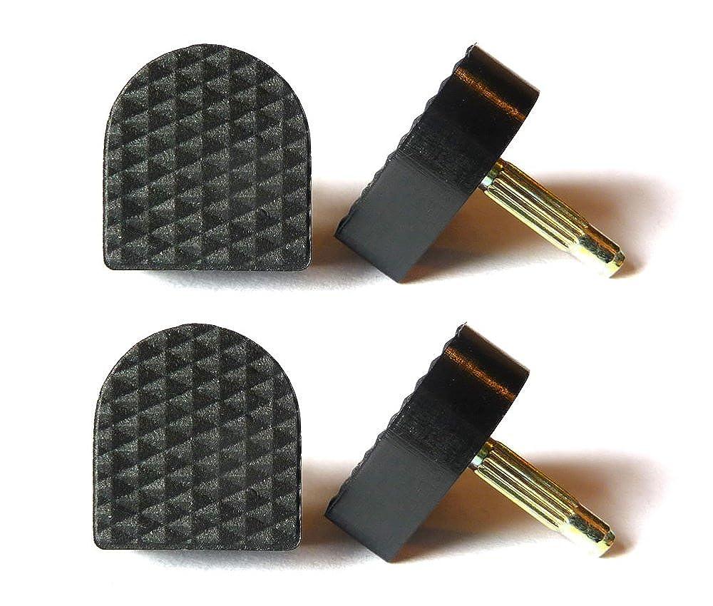 Lot de 2 paires d'embouts de rechange en forme de U pour chaussures à talon Noir 13mm x 14mm The Little Cobbler
