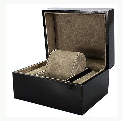 Watch-HLH Caja de Almacenamiento de exhibición de cuadrícula Artesanal 1 Tapa de Vidrio Reloj Caja de Almacenamiento de exhibición de joyería: Amazon.es: Hogar