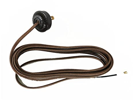 replacement lamp cord rayon covered with bakelite round plug 10\u0027 wire parts A Lamp Socket Wiring