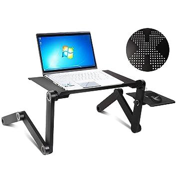 COSTWAY - Mesa para portátil con Soporte para ratón, para Cama, Mesa de Cama